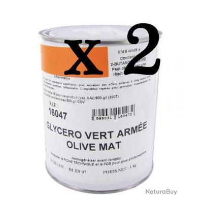 Lot de 2 pots peinture palombi re vert arm e 0 75l mat - Fabrication glue pour chasse ...