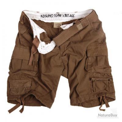 short vintage avec ceinture - couleur kaki - taille L = 46  - 119273