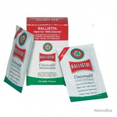 Entretiens avec Boite de 10 Lingettes  //  Huile UNIVERSELLE Ballistol