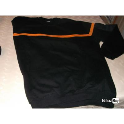 sweat avec bande orange