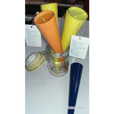 Lot De 4 Bougies A La Citronnelle, Anti Moustiques, , à Planter Dans Du