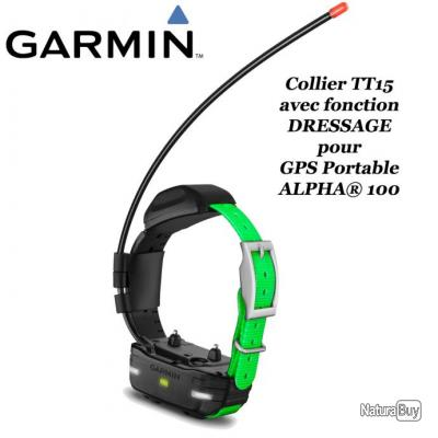 garmin alpha 100 gps portable et collier suivi pour chien. Black Bedroom Furniture Sets. Home Design Ideas