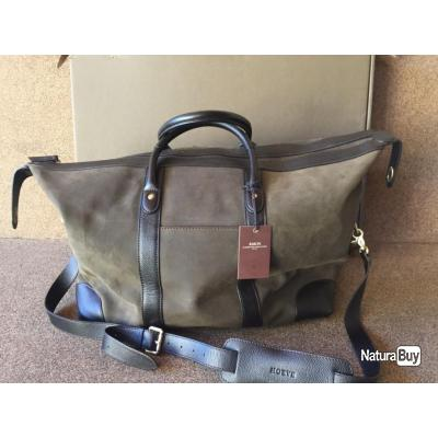 SAC WEEK-END CHASSE POLOCHON OLIVE SUEDE BARON, OFFRE SPECIALE FETE DES PERES !!!