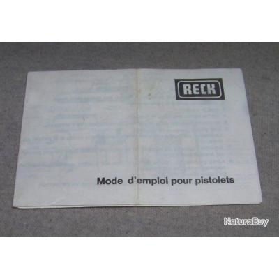 Notice pour pistolet RECK 6.35