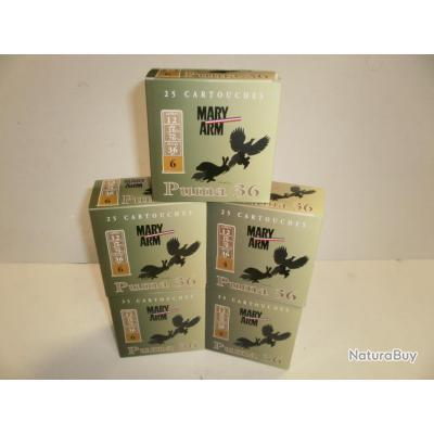 N405 b - LOT DE 125 CARTOUCHES DE CHASSE  MARY ARM - PUMA 36 BJ  - PROMO