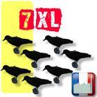 Lot de 7 corneilles Magnum XL