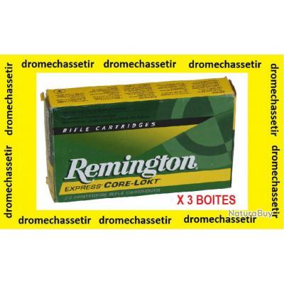 Lot de 5 boites neuve de 20 cartouches  de calibre 7x64, Remington CORE LOKT 140grs
