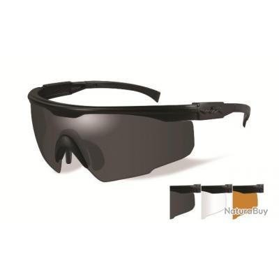 LUNETTES DE PROTECTION WILEY X PT-1SCL   Gris fumé / Transparent / Rouille lumineux