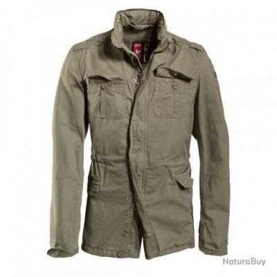 Homme Veste Vintage Style Delta S Kaki Military Britannia Taille Surplus W1nAZxwW