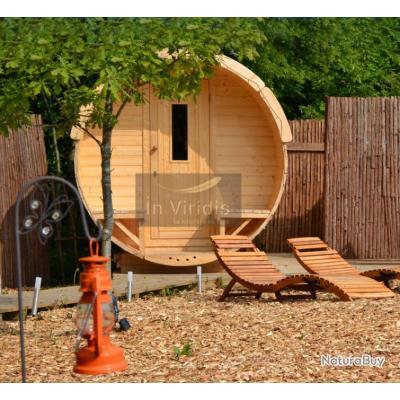 sauna rond avec po le a bois saunas 3258706. Black Bedroom Furniture Sets. Home Design Ideas