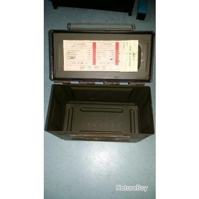 Caisse à Munitions Cal .50 Kaki Plastique 37x21x23cm