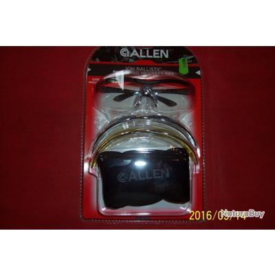 Allen, N°1, ION ballistic, verre plastique clair, jaune et noir