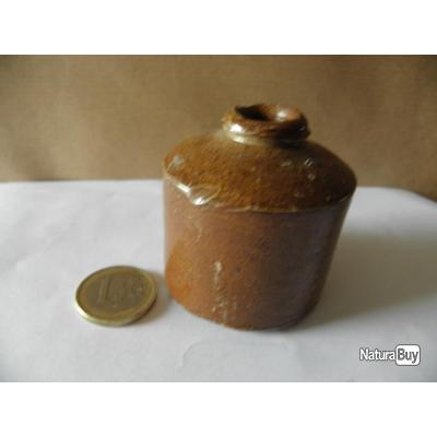 antique petite bouteille d 39 encre vide en gres objets divers 3266282. Black Bedroom Furniture Sets. Home Design Ideas