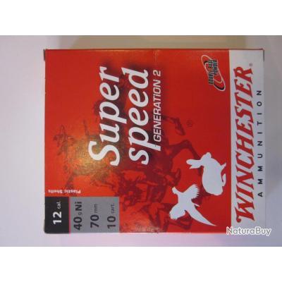 Cartouches winchester super speed 12/70 40 gr  Pb 2 nikelé à 8.9€ la boite de 10