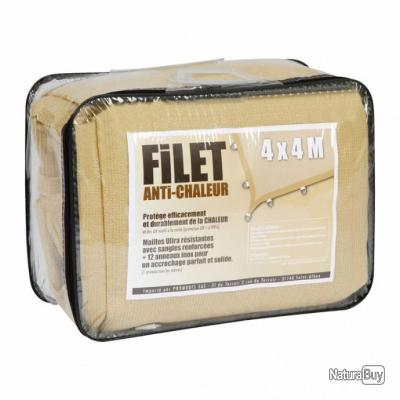 Filet anti-chaleur 3.6m x 3.6m (sable), camping, outdoor, bivouac, militaire, chasse