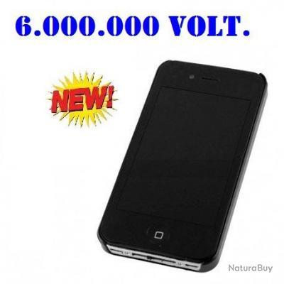 I PHONE SHOCKER ÉLÉCTRIQUE NOIR 6.000.000 VOLTS AVEC LAMPE PROMOTION SOULEMENT 5 JOURS