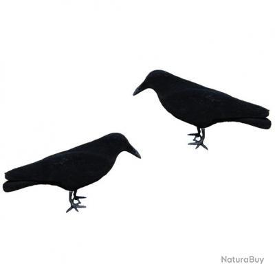 corbeau floqu promo 5 pcs formes plastiques 3281308. Black Bedroom Furniture Sets. Home Design Ideas
