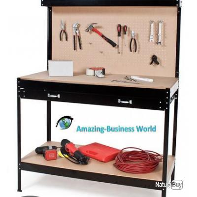 tabli atelier bricolage rangement outils table garage. Black Bedroom Furniture Sets. Home Design Ideas