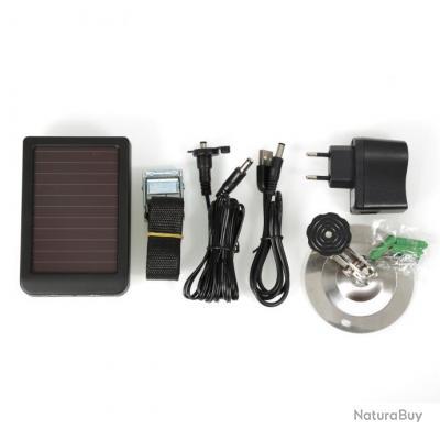 panneau solaire pour camera de surveillance de chasse hc 300 alimentation accessoires pour. Black Bedroom Furniture Sets. Home Design Ideas