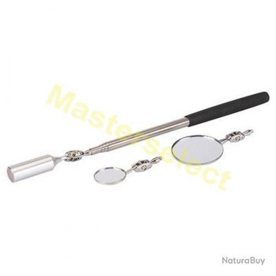 Aimant Puissant Télescopique Avec 2 Miroirs D'inspection Pour de Mecanique - PROMO -