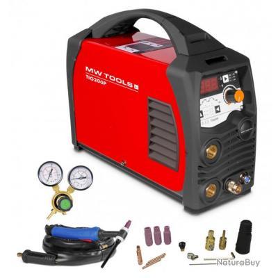 Poste à souder inverter TIG 200A AC et DC - HF - manomètre inclus MW-Tools TIG200PAC