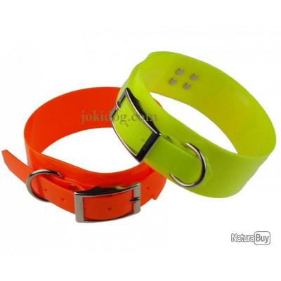 Collier fluo large 50mm T3 Jaune