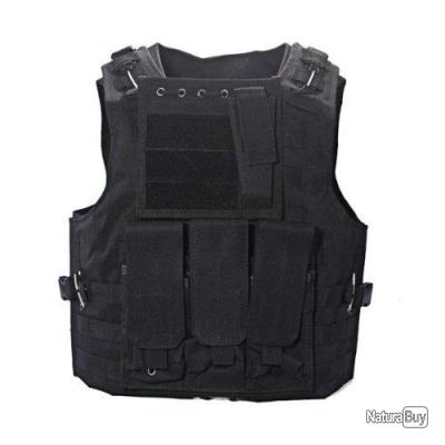Veste tactique airsoft gilet pare balle paintball combat for Housse gilet pare balle gk