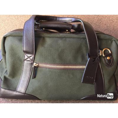 SAC WEEK-END CHASSE SAC DE TRANSPORT SMALL GREEN CANVAS BARON, OFFRE SPECIALE FETE DES PERES !!!