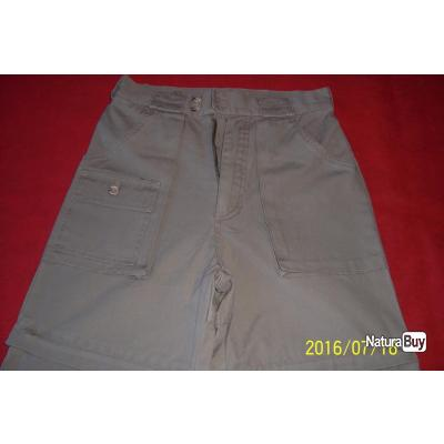 Crossby, pantalon long, transformable en short par ZIP,