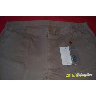 Beratta, pantalon beige,100% coton,