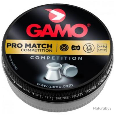 Plombs Gamo Pro Match Calibre 4.5 Tête Plate