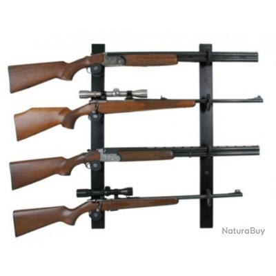 ratelier mural nor lyx pour 4 fusils rateliers et porte fusils 3407832. Black Bedroom Furniture Sets. Home Design Ideas