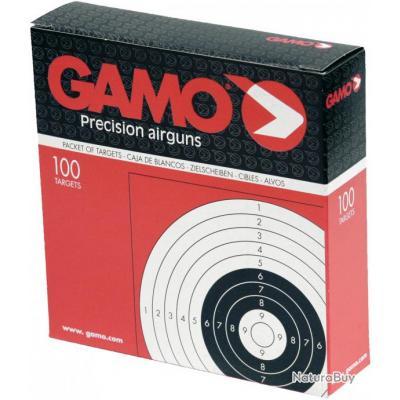 Lot 500 Cibles Gamo Carton 14X14