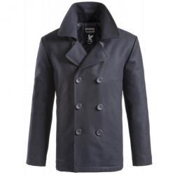 77e5fd2cd1 Taille S - Manteau Caban Marin US Laine Bleu Pea Coat Surplus Vintage