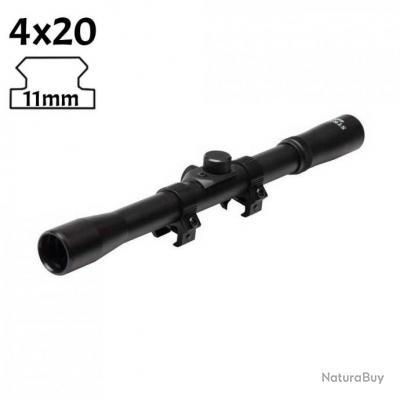 Lunette de visée 4x20 pour arbalètes rail 11mm