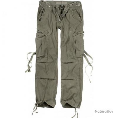 Taille W34/43-44FR - Pantalon Treillis Femme Brandit Vintage M65 Ladies Olive