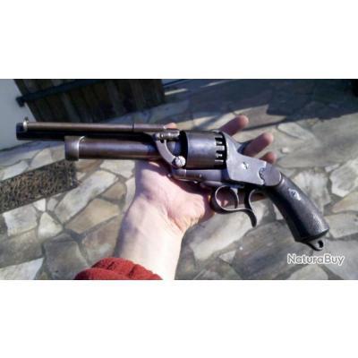 Revolver LeMat confédéré, d'époque, importé des USA pour collection