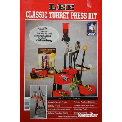 presse lee lee classic turret press kit en stock autres accessoires de rechargement 3441404. Black Bedroom Furniture Sets. Home Design Ideas