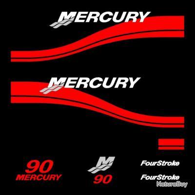1 kit stickers mercury 90cv serie 2 pour capot moteur hors for Housse moteur hors bord mercury