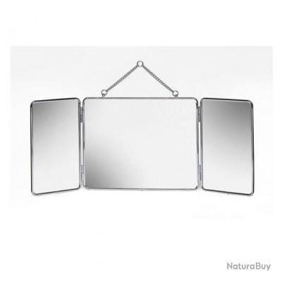 gerson 5030 1 miroir tryptique a suspendre 61x24cm chrome rasage ciseaux et manucure 3457433. Black Bedroom Furniture Sets. Home Design Ideas