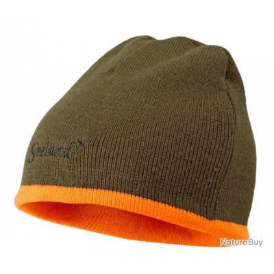 ecf9a30499ef Bonnet SEELAND homme Ian Reversible Hi-vis orange Pine green ...