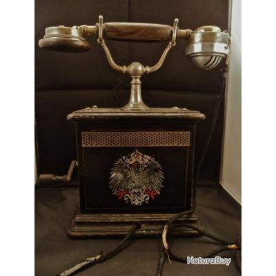 t l phone de bureau arm e allemande imp riale kaiser 14. Black Bedroom Furniture Sets. Home Design Ideas