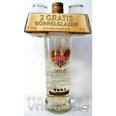 Vodka SMIRNOFF GOLD COLLECTION Cinnamon Flavore + 2SHOT GLASSES 70cl 37,5° à 28_euro
