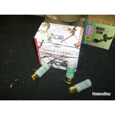 1 boite de 25  SWEET COPPER FOB N° 4 en cal 12/70  ZONE HUMIDE