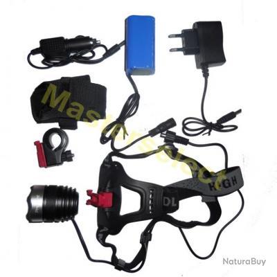 Lampe Projecteur frontale SMD LED CREE adaptateur phare de velo