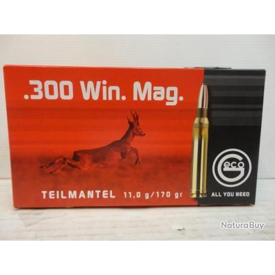 "N2737- 1 BOITE DE 20 BALLES GECO ""TEILMANTEL"" CAL.300 WIN MAG. - 170GR - NEUF SUPER PROMO!!!!"