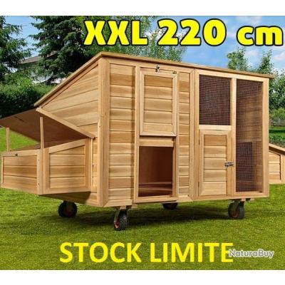 poulailler mobile abri poule xxl caille clapier coq. Black Bedroom Furniture Sets. Home Design Ideas