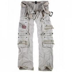Taille 56 - Pantalon Treillis Royal Traveler Blanc Casse Surplus Vintage 2c9355a3e723