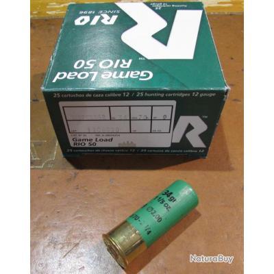 Boite de 25 cartouches Mini Magnum  RIO, cal 12/70  dispersante, 34 grammes, Numero 9