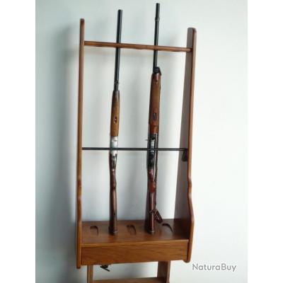ratelier 5 fusils avec barre de s curit vendu sans fusils rateliers et porte fusils 3548084. Black Bedroom Furniture Sets. Home Design Ideas